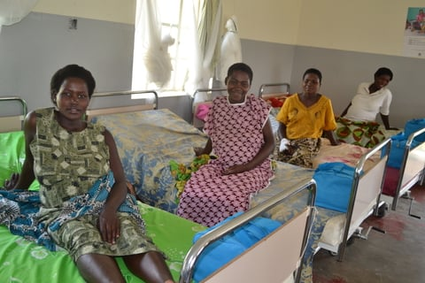 A group of women waiting for safe delivery at Kihihi Health Centre IV in Western Uganda